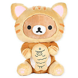Rilakkuma™ Bear Dressed as a Tiger with Fish Plush Toy in Brown
