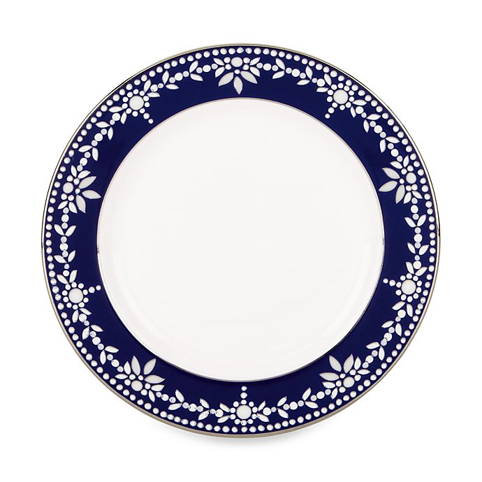 Alternate image 1 for Marchesa by Lenox® Empire Pearl Indigo Bread and Butter Plate