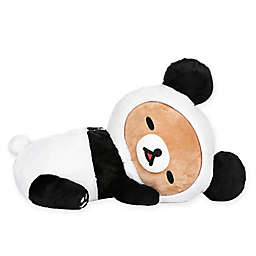 Rilakkuma™ Bear Dressed as a Panda Sleeping Plush Toy in Black/White