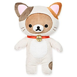 Rilakkuma™ Bear Dressed as a Cat Standing Plush Toy in Brown