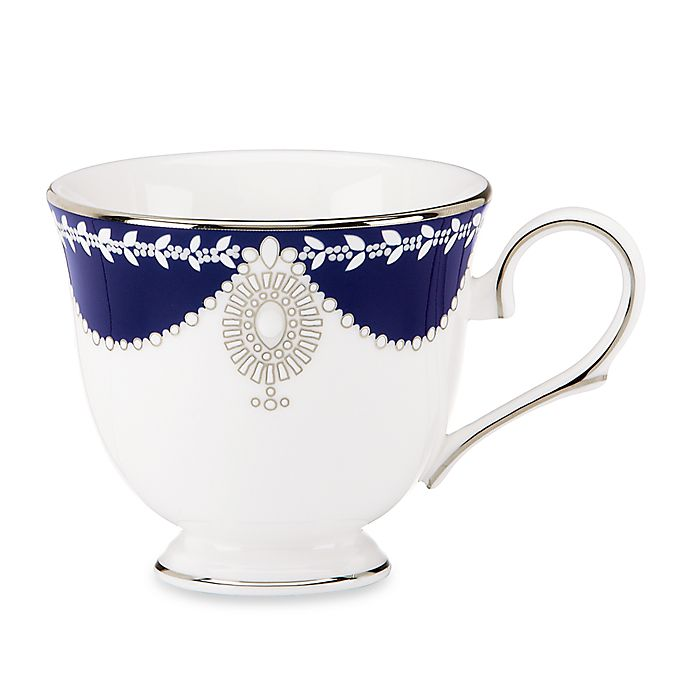 Buy Marchesa By Lenox® Empire Pearl Indigo Teacup From Bed