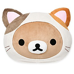 Rilakkuma™ Cat Head Pillow in Brown