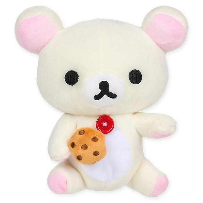 Alternate image 1 for Rilakkuma™ Korilakkuma Eating Biscuit Plush Toy in White