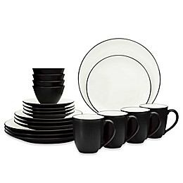 Noritake® Colorwave Coupe 20-Piece Dinnerware Set in Graphite