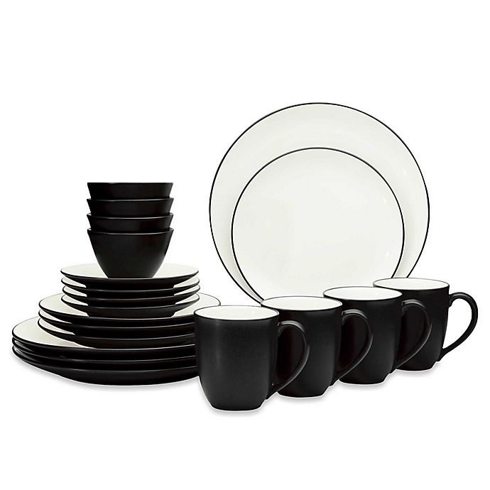 Alternate image 1 for Noritake® Colorwave Coupe 20-Piece Dinnerware Set in Graphite