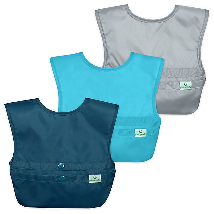 Alternate image 1 for green sprouts® 3-Pack Snap & Go® Easy-Wear Bib Set