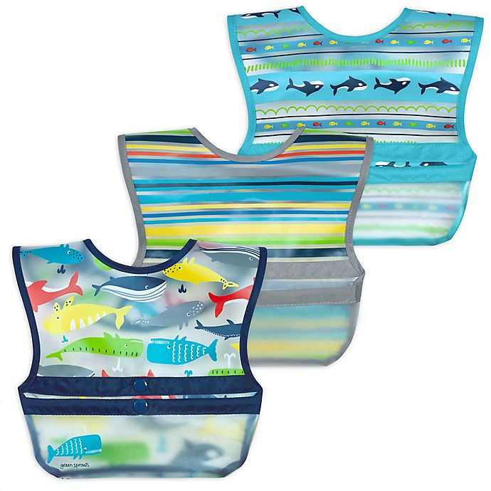 Alternate image 1 for green sprouts® by i play.® 3-Pack Snap & Go Roll-Up Bibs