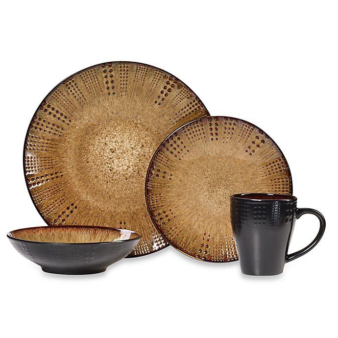 Alternate image 1 for Gourmet Basics by Mikasa® Linden 16-Piece Dinnerware Set