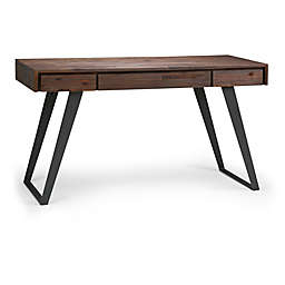Simpli Home Lowry Desk in Distressed Charcoal/Brown