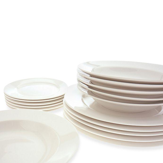 Alternate image 1 for Maxwell & Williams™ White Basics 18-Piece York Dinnerware Set