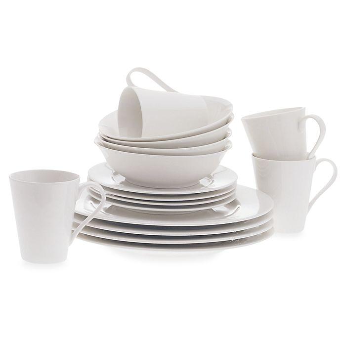 Alternate image 1 for Maxwell & Williams™ White Basics Cosmopolitan 16-Piece Dinnerware Set