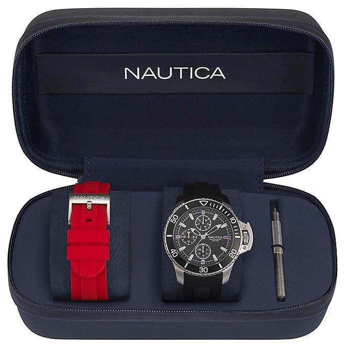 Alternate image 1 for Nautica® Bayside Men's 45mm NAPBYS007 Chronograph Watch Box Set