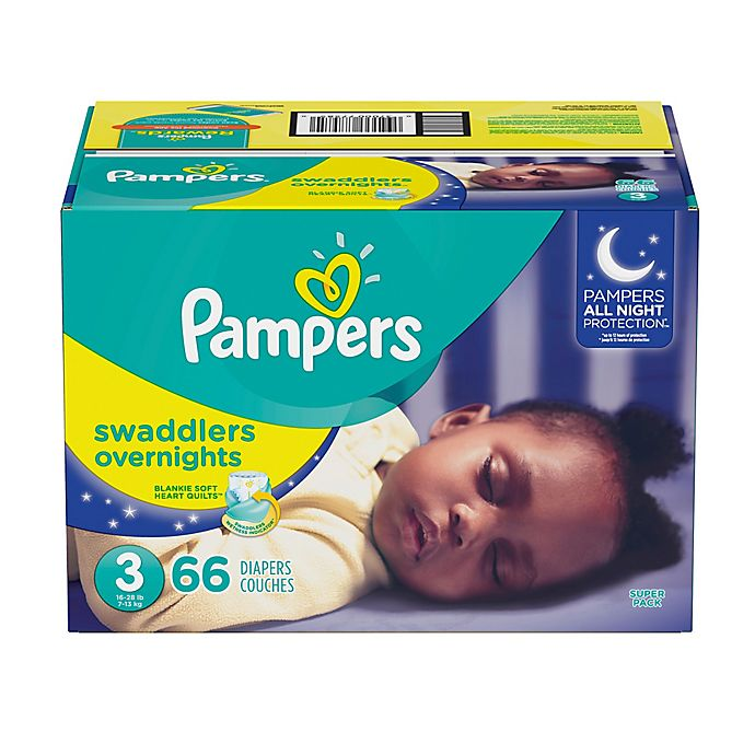 Alternate image 1 for Pampers® Swaddlers 66-Count Size 3 Overnights Disposable Diapers