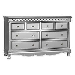 Baby Cache Adelina 8-Drawer Dresser in Metallic Grey