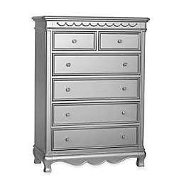 Baby Cache Adelina 6-Drawer Chest in Metallic Grey