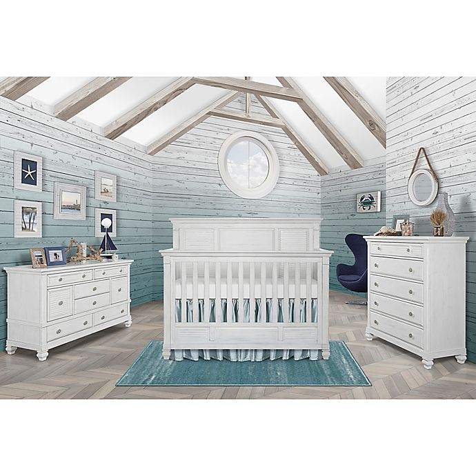 Evolur Signature Cape May Nursery Furniture Collection In Weathered White