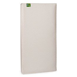Sealy® Soybean Foam-Core Crib and Toddler Mattress in Gold Jacquard Leaf