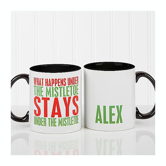 Alternate image 1 for Funny Christmas Quote Personalized 11 Oz. Coffee Mug- Black