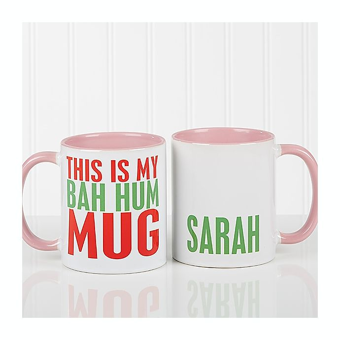 Alternate image 1 for Funny Christmas Quote Personalized 11 Oz. Coffee Mug- Pink