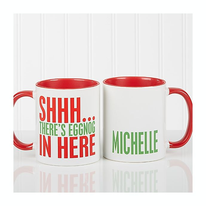 Alternate image 1 for Funny Christmas Quote Personalized 11 Oz. Coffee Mug- Red
