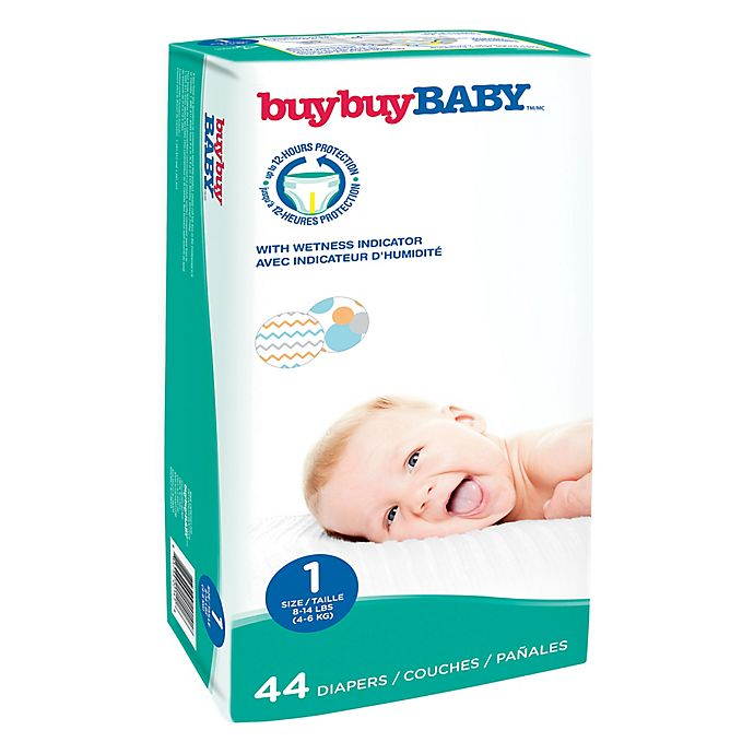 Alternate image 1 for buybuy BABY™ 44-Count Size 1 Jumbo Diapers in Chevrons and Circles