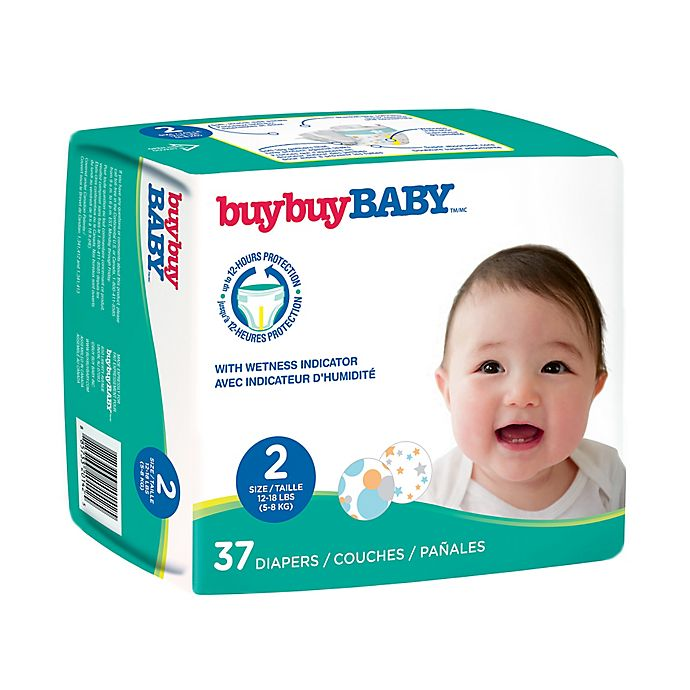 Alternate image 1 for buybuy BABY™ 37-Count Size 2 Jumbo Diapers in Circles and Stars