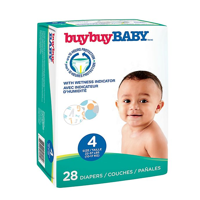 Alternate image 1 for buybuy BABY™ 28-Count Size 4 Jumbo Diapers in Letters and Circles
