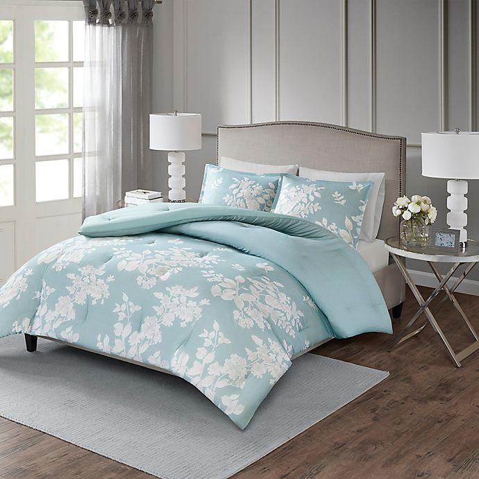 Alternate image 1 for Madison Park Marian King/California King Comforter Set in Aqua