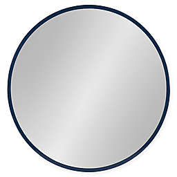 Kate and Laurel® Travis 21.6-Inch Round Wall Mirror in Navy