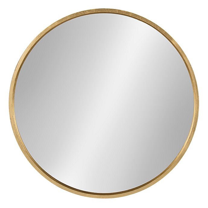 Alternate image 1 for Kate and Laurel® Travis 25.6-Inch Round Wall Mirror in Gold