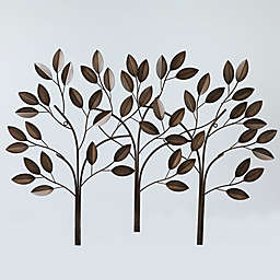 Three Metal Trees 28.5-Inch x 39.5-Inch Wall Art