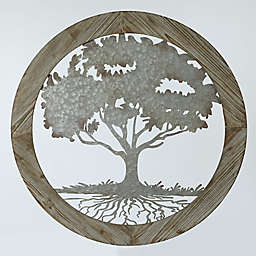 Winsome House Circular Metal Tree Wall Art