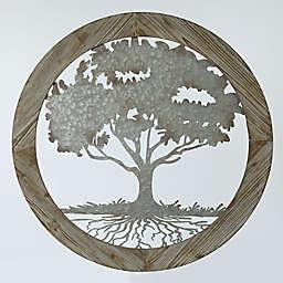 Circular Metal Tree Wall Art