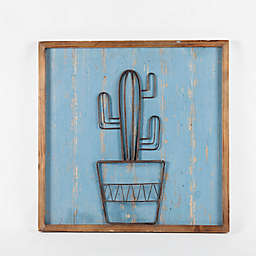 Winsome Home Metal Cactus Wall Art