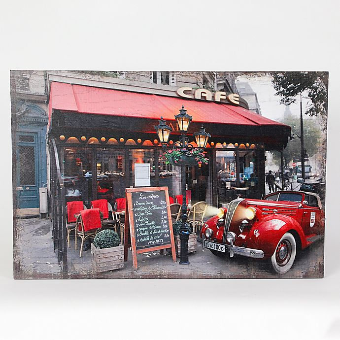 Alternate image 1 for Winsome House Fresco Cafe & Car Wood Wall Art