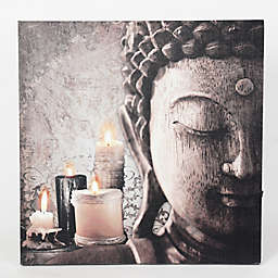 Zen Buddha & Candles Wood Wall Art
