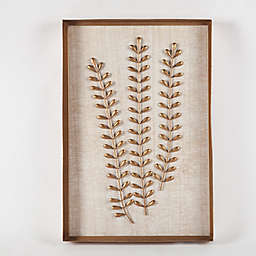 Winsome House Metal Fern Leaves Wall Art