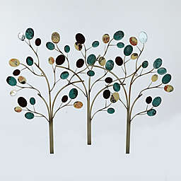 Winsome House Metal Trees Wall Art