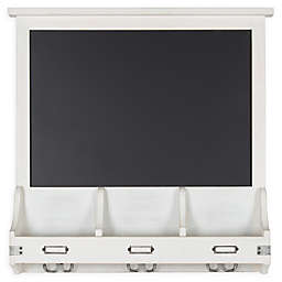 Kate and Laurel Stallard Chalkboard Wall Organizer with Hooks and Pockets
