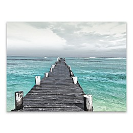 Dock at Sea 18-Inch x 24-Inch Canvas Wall Art