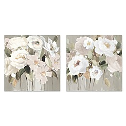2-Piece Promise of Giverny Neutral I 18-Inch Square Canvas Wall Art