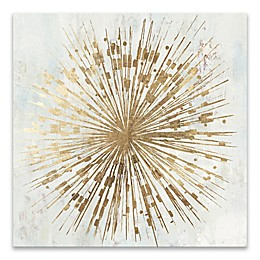 Golden Star 20-Inch Square Canvas Wall Art