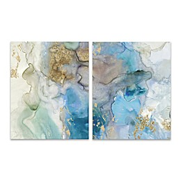 2-Piece Emerald Pool I 16-Inch x 20-Inch Canvas Wall Art