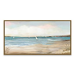 Pearl Shore 15.8-Inch x 30.8-Inch Framed Canvas Wall Art