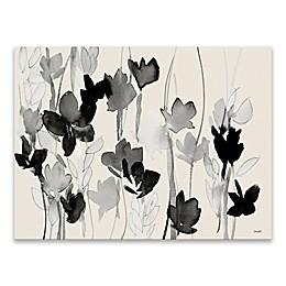 Dark Modern Garden 18-Inch x 24-Inch Canvas Wall Art