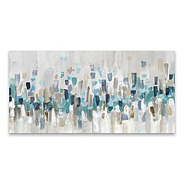 Blue Staccato 15-Inch x 30-Inch Canvas Wall Art
