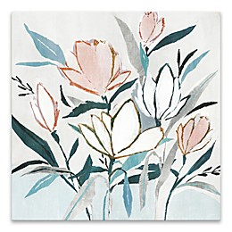 Blue Monday II 20-inch Square Canvas Wall Art