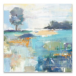 Landscape Nature 24-Inch Square Wrapped Canvas in Blue/Grey