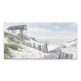 Beachy Coastal 30-Inch x 15-Inch Wrapped Canvas