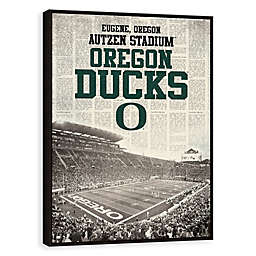University of Oregon News Stadium Framed Printed Canvas Wall Art